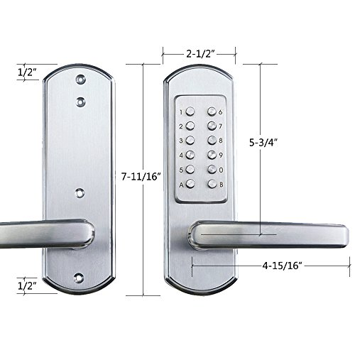 unican digital lock fitting instructions