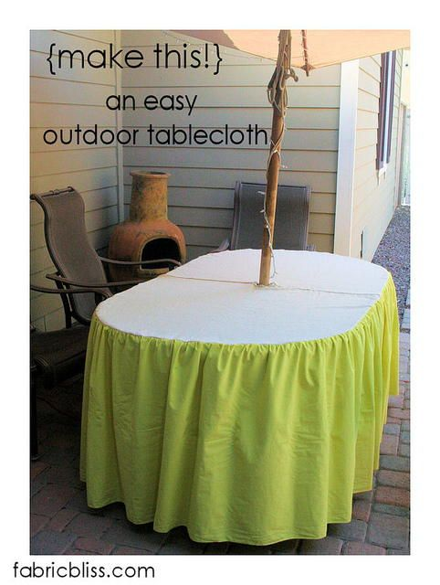 instructions for fabric tablecloth corners