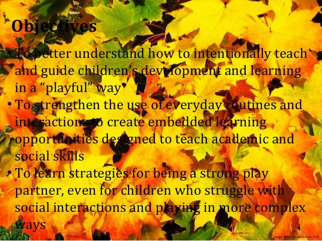 intentional instruction in play based