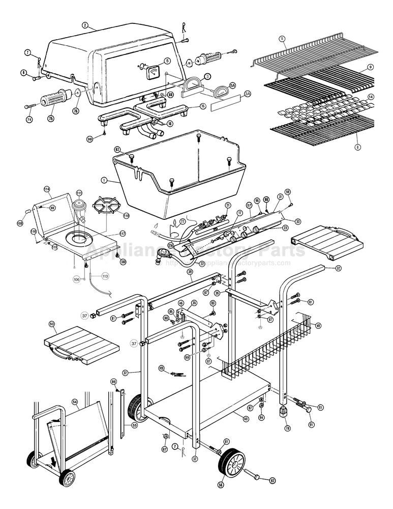 broil-mate model 116454 assembly instruction