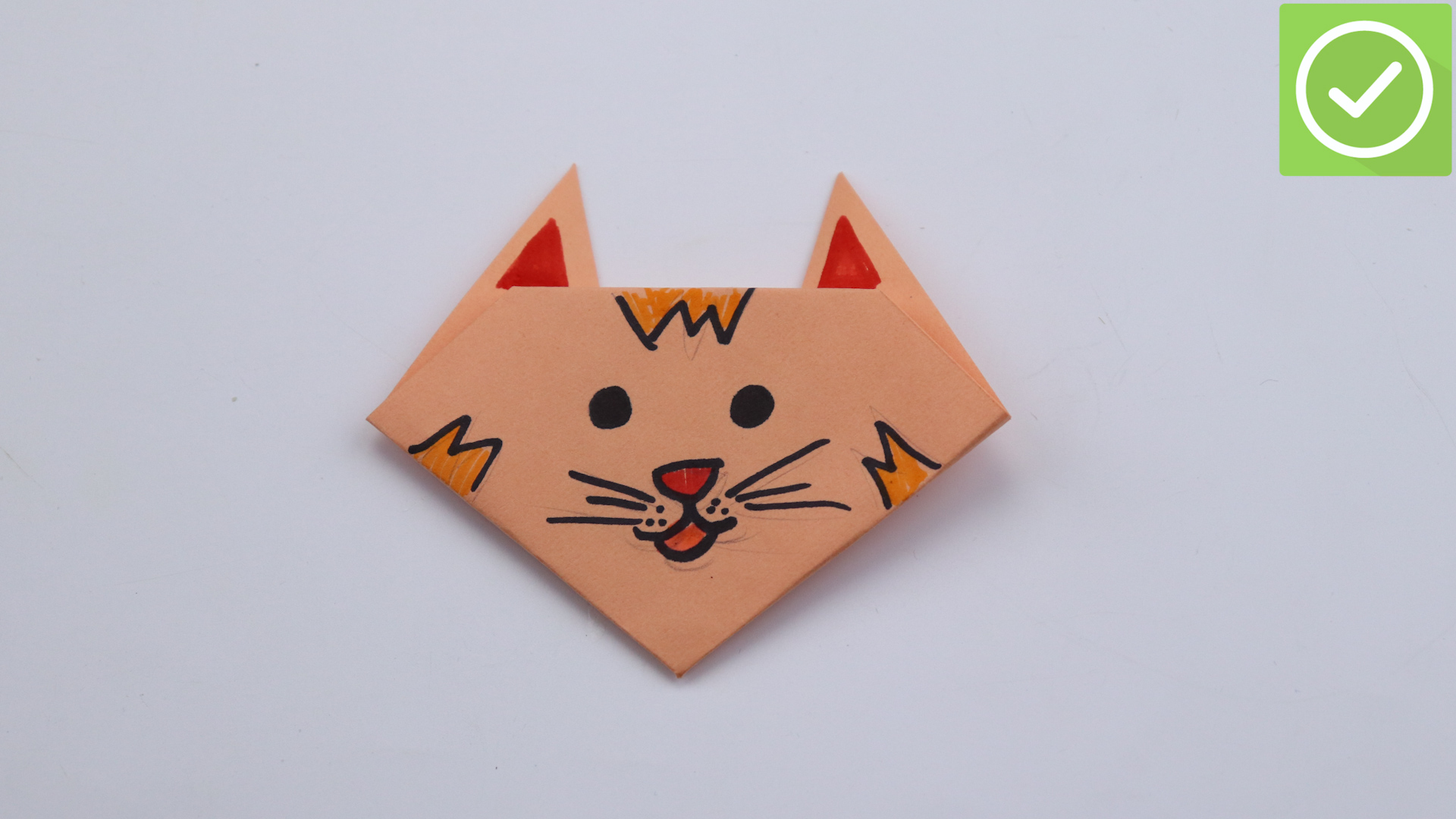 origami instructions cat face